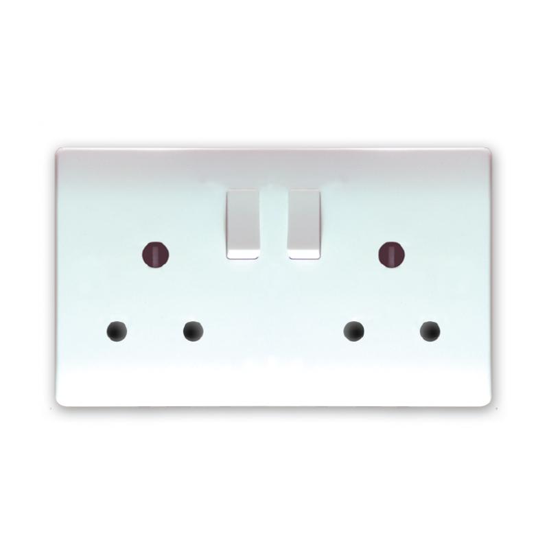 TR 5215 15Amp Switch Socket Twin
